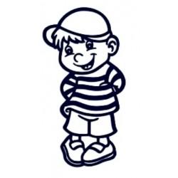 Samolepka dítě v autě se jménem- kluk 01