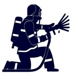 Samolepka na auto-hasiči