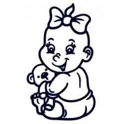 Samolepka dítě v autě se jménem- holka 01