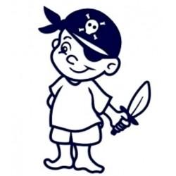 Samolepka dítě v autě se jménem- kluk pirát