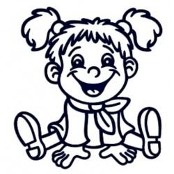 Samolepka na auto se jménem dítěte- holka 05