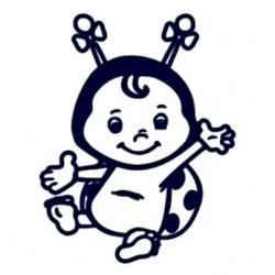 Samolepka dítě v autě se jménem- holka beruška