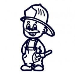 Samolepka dítě v autě se jménem- kluk hasič