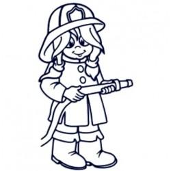 Samolepka dítě v autě se jménem- hasička