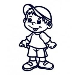 Samolepka dítě v autě se jménem- kluk 02