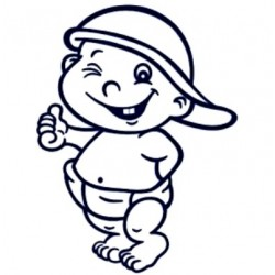 Samolepka dítě v autě se jménem- kluk 03