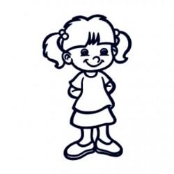 Samolepka dítě v autě se jménem- holka 07