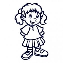Samolepka dítě v autě se jménem- holka 08