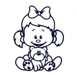 Samolepka dítě v autě se jménem- holka 12