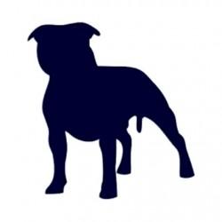 Samolepka na auto-pes v autě- pes 06
