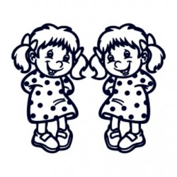 Samolepka dítě v autě se jménem- dvojčata 02
