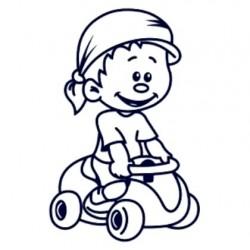 Samolepka dítě v autě se jménem- kluk řidič