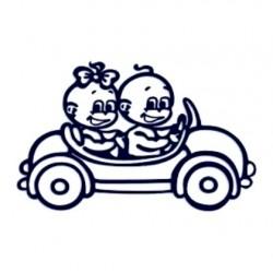 Samolepka dítě v autě se jménem- dvojčata 05