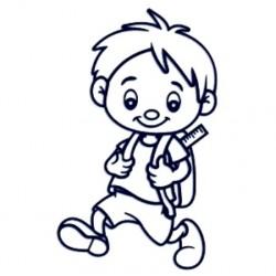 Samolepka dítě v autě se jménem- kluk školák