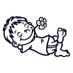 Samolepka dítě v autě se jménem- kluk leháro