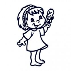 Samolepka dítě v autě se jménem- holka 21