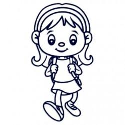 Samolepka dítě v autě se jménem- holka školačka