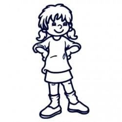 Samolepka dítě v autě se jménem- holka 6 až 12let