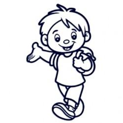 Samolepka dítě v autě se jménem- kluk na výletě