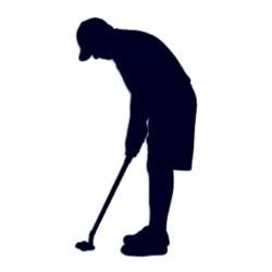 Samolepka na auto s motivem golfu- golfista 03