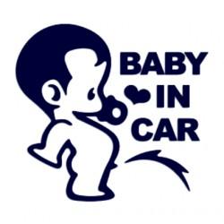 Samolepka dítě v autě se jménem- Baby in car