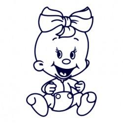 Samolepka dítě v autě se jménem - holka 24