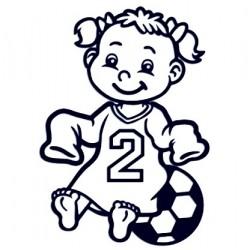 Samolepka dítě v autě se jménem - fotbalistka