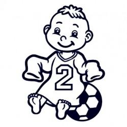 Samolepka dítě v autě se jménem - fotbalista 02
