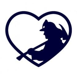 Samolepka na auto- hasič srdce