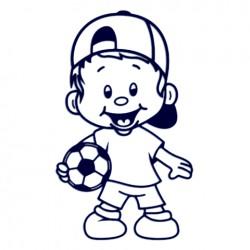 Samolepka na auto- kluk fotbalista v kšiltovce