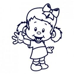 Samolepka dítě v autě se jménem- holka s mašlí